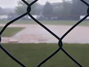 Uno scorcio del diluvio che ha messo fine anticipatamente a Gara2