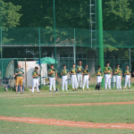 L'Under 15 Athletics Bologna schierata per il minuto di silenzio per commemorare i 40 anni dalla Strage della Stazione di Bologna