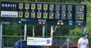 Esempio di cartellonistica presso lo Stadio Baseball Pilastro - Alveo di Alberto Venturi