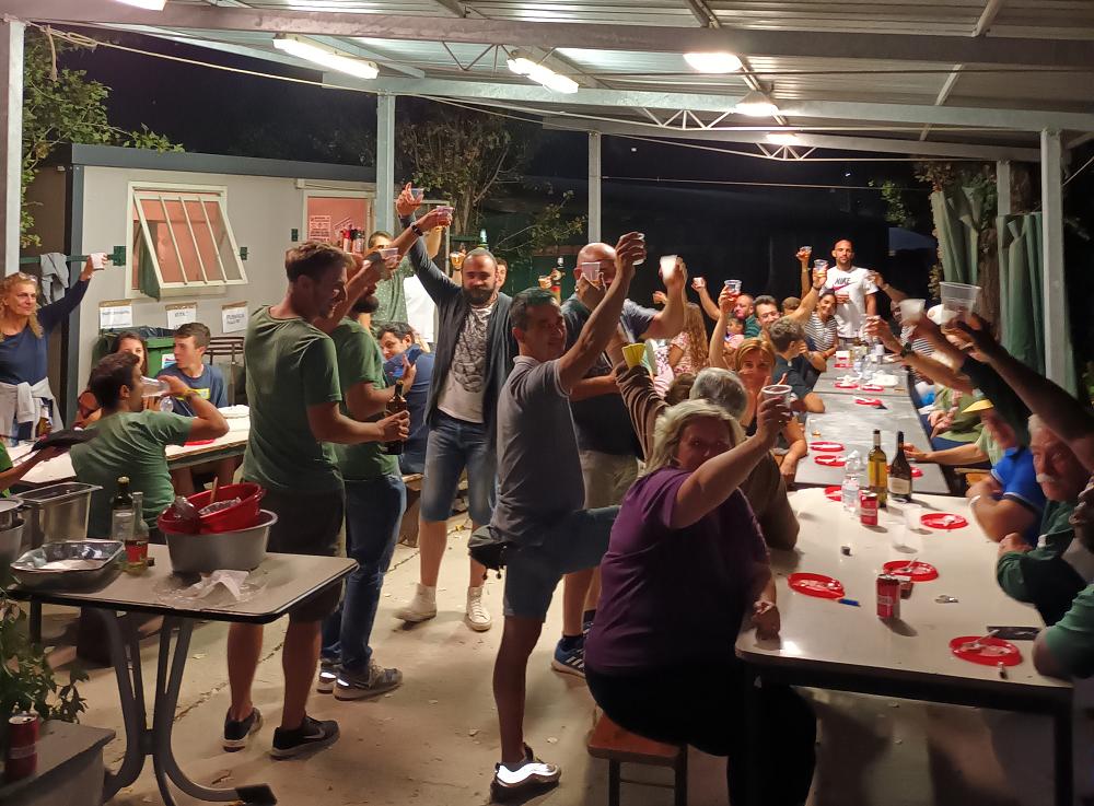 """""""Decimo Inning"""" anche per Tifosi e Volontariche hanno festeggiato con squadra e staff la fine della stagione"""